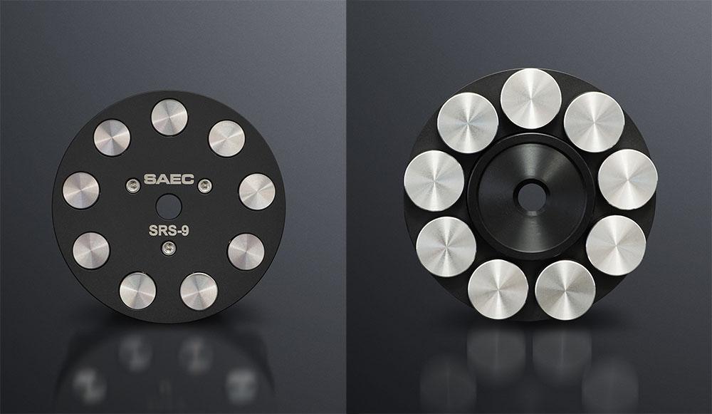 画像: 本体は、直径72×高さ21.5mm、重さ298g。ディスク保持部分は硬質アルミニウム、ウエイト部にはステンレスを使用