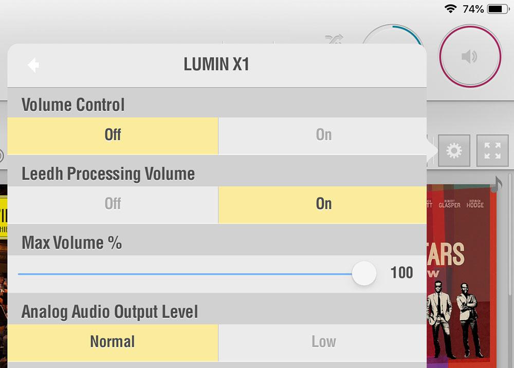 画像: ルーミンのネットワークプレーヤーにはデジタルボリュウム機能が搭載されており、LUMINアプリで設定することで高品質なLeedh Processing Volume機能が使えるようになる。アプリからプレーヤー設定の「OPTIN」を選び「Volume Control」と「Leedh Processing Volume」をオンにするだけと設定方法も簡単だ