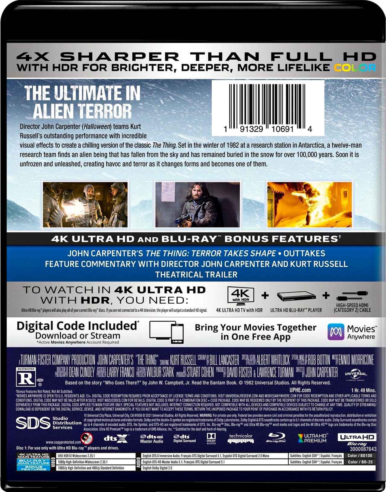 画像2: ジョン・カーペンターの人気作が4K化『遊星からの物体X』【海外盤Blu-ray発売情報】