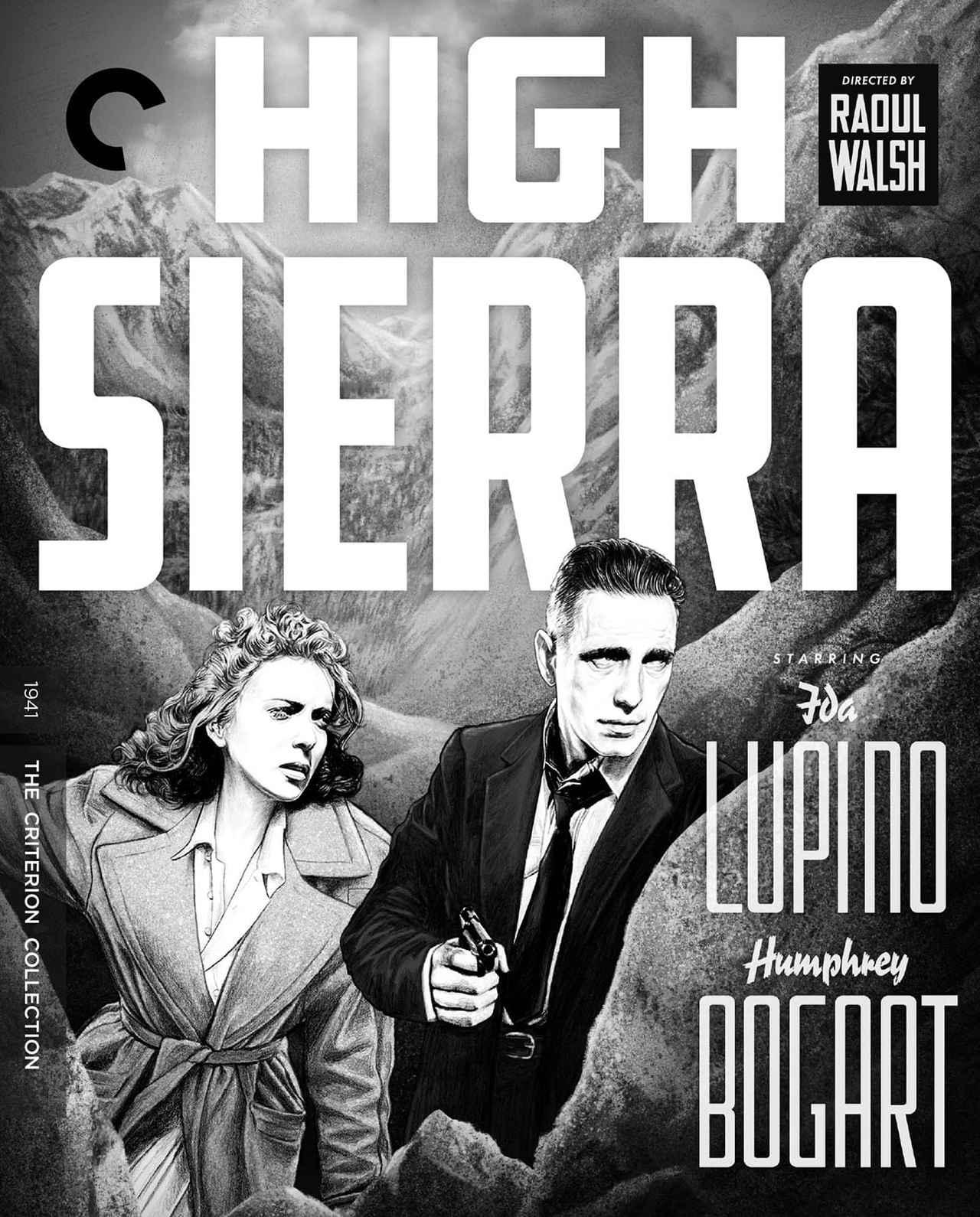 画像: ハイ・シエラ/HIGH SIERRA 10月12日リリース 1941年/監督ラオール・ウォルシュ/出演ハンフリー・ボガート, アイダ・ルピノ, アーサー・ケネディ 特赦で8年ぶりに出所した凶悪犯ロイ。彼を待っていたのはホテル強盗を企む昔の仲間たちだった。前科者がその優しさのため破滅してゆく姿と愛する女性との逃避行を描く。『白熱』『平原児』等で知られる監督ウォルシュは、本作を西部劇としてリブートした傑作『死の谷』でも有名。脚本はジョン・ヒューストン。 ****************************************************************************************************************************** NEW 4K RESTORATION OF THE FILM, with uncompressed monaural soundtrack