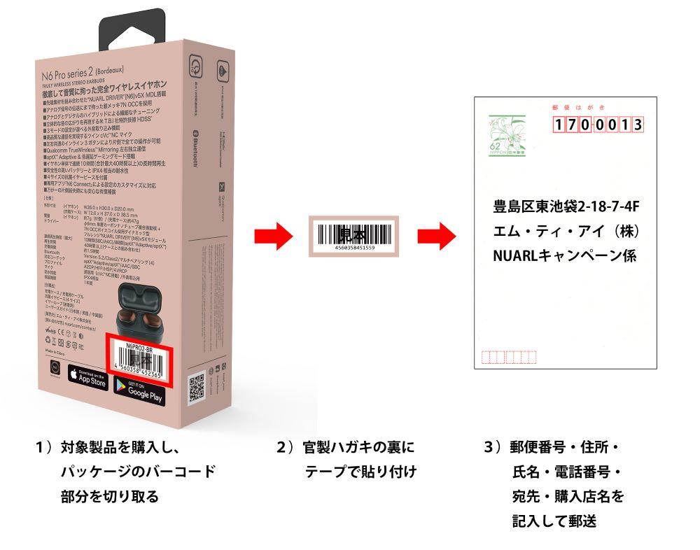 画像3: NUARLの完全ワイヤレスイヤホン「N6 Pro2」購入者を対象に、「抗菌フォームイヤピース」と「川嶋あいコンサートチケット」Wプレゼントキャンペーンを実施中
