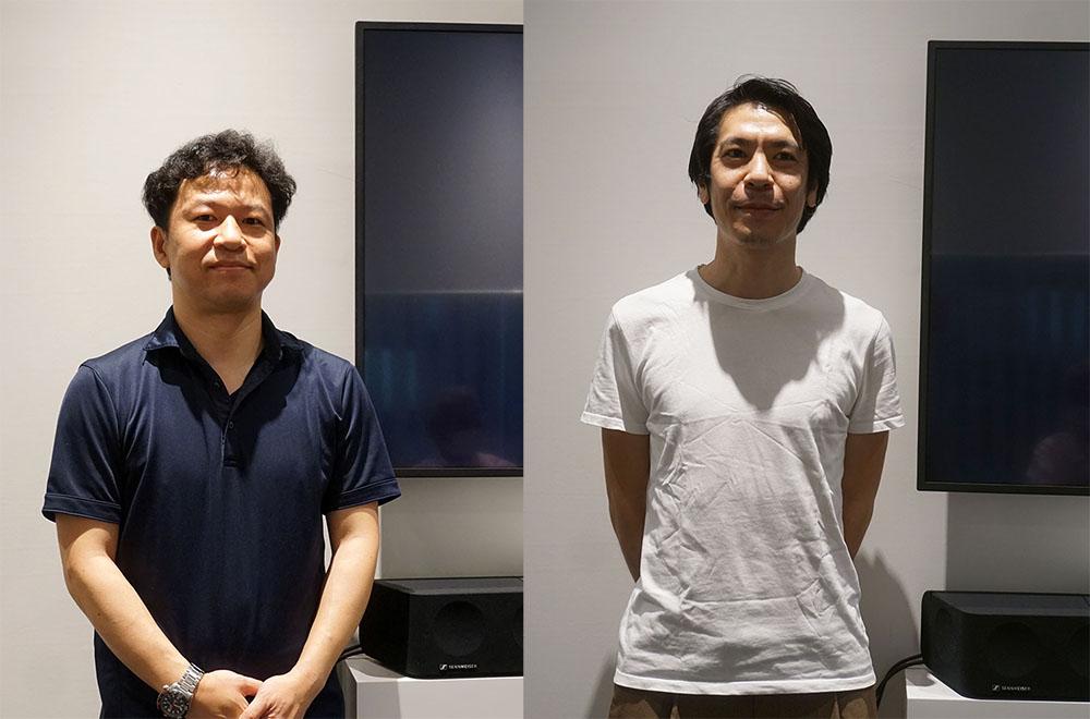 画像: 取材に協力いただいた方々。左はゼンハイザージャパン株式会社 コンシューマー セールスリーダー 柴田義紀さんで、右はコンシューマー マーケティングマネージャー 伊藤涼太さん