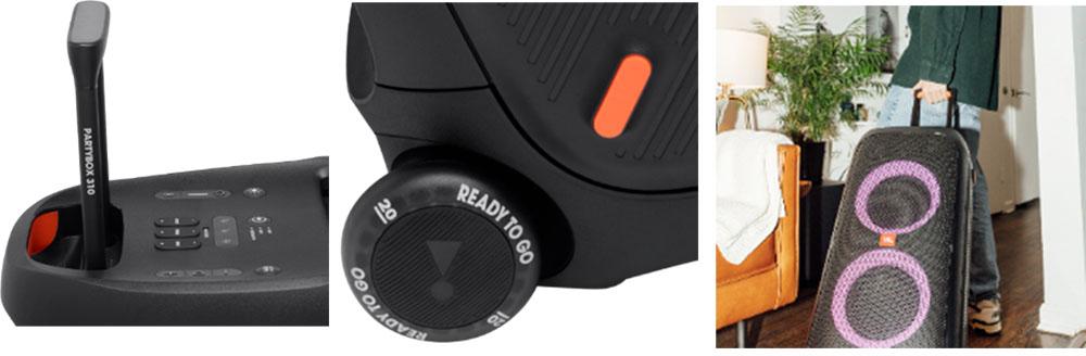 画像2: JBLがパーティースピーカー「PartyBox 310」を8月6日に発売。防滴機能の搭載と持ち運びやすさも加わりオールラウンドで活躍