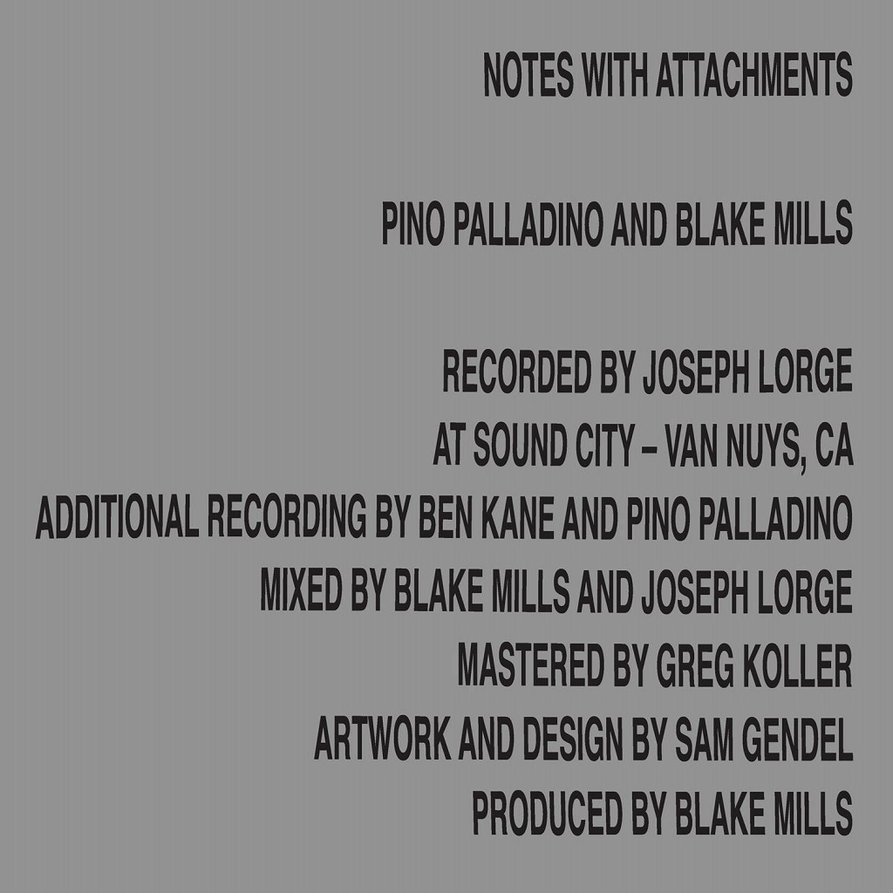 画像: Notes With Attachments / ピノ・パラディーノ , ブレイク・ミルズ