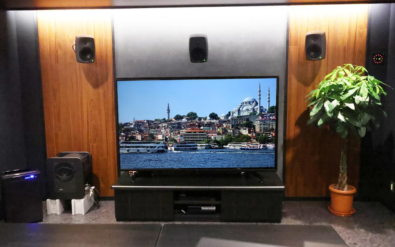 画像: ▲8K編集室にはプレビュー用に85型の液晶テレビ(ソニーKJ-85Z9G)が設置されている。音響は、Genelecのパワードスピーカーで5.1chシステムが組まれている