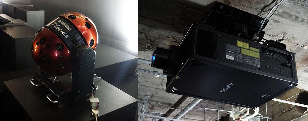 画像: 光学式プラネタリウム投影機「MEGASTAR II」(左)と、レーザー光源搭載4K SXRDプロジェクター「VPL-GTZ280」(右)