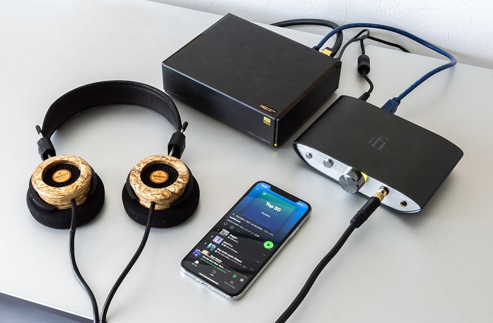 """画像3: Spotify再生に対応した、アイ・オー・データ「Soundgenic」を3つのシステムで聴く。曲との出会いからハイレゾまで、""""最新の音楽ライフ""""を満喫できるアイテムだ"""