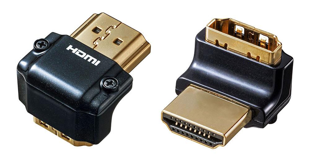 画像1: サンワサプライ、HDMIケーブルをすっきり配線できるL型、変換、中継アダプターなど5モデルを発売。限られたスペースでも配線に困らない