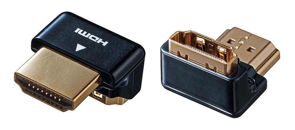 画像2: サンワサプライ、HDMIケーブルをすっきり配線できるL型、変換、中継アダプターなど5モデルを発売。限られたスペースでも配線に困らない