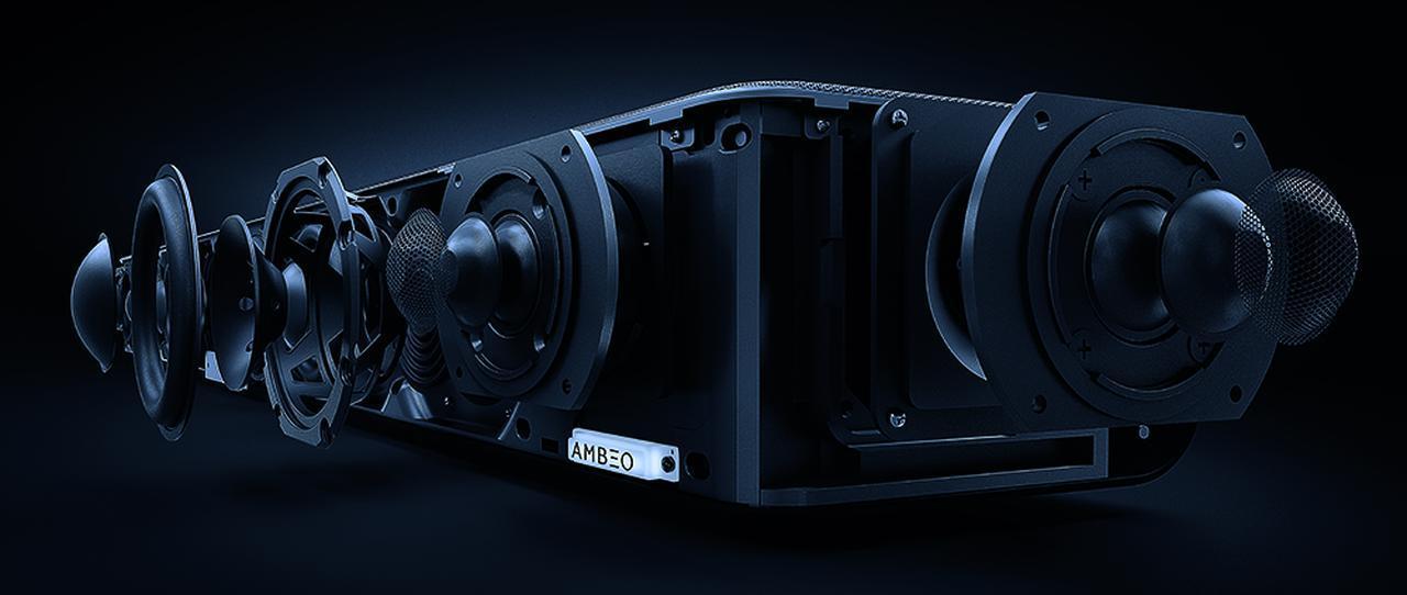 画像: サイドとトップにもスピーカーユニットを搭載し、音場測定によって本格的なサラウンドを体感できる