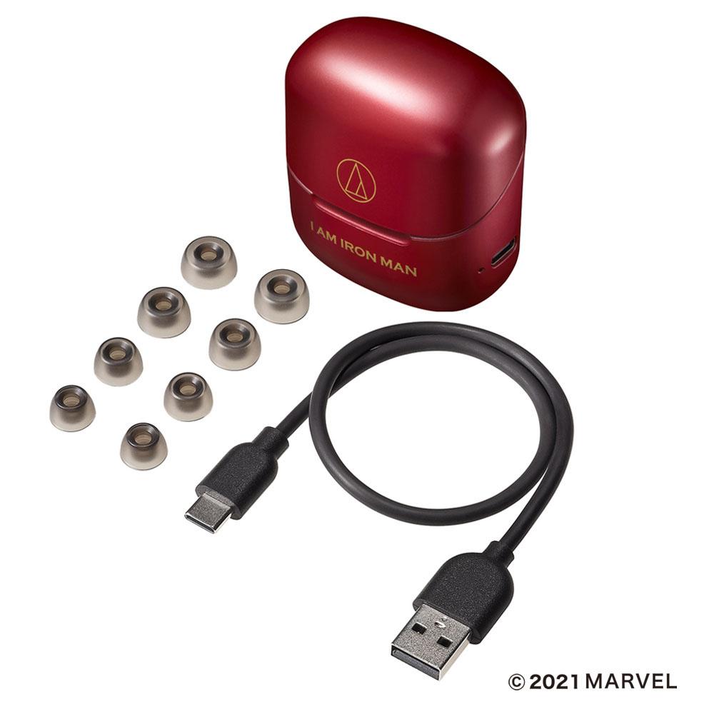 画像: 30cmの充電用USBケーブル(USB A-C)やイヤピース(XS、S、M、L)も付属
