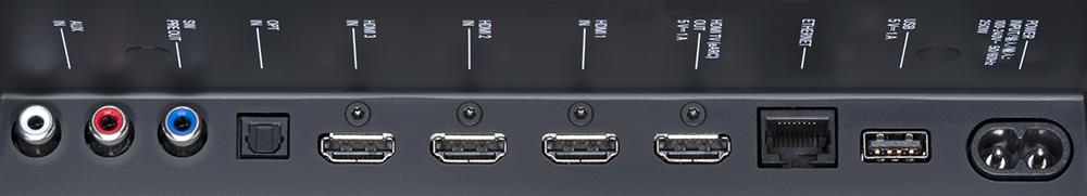 画像: HDMI入力は3系統。HDMI出力はeARCに対応している
