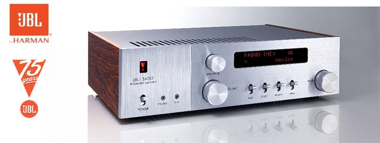 画像: JBL創立75周年記念モデルの第2弾、インテグレーテッドアンプ「SA750」誕生! レトロな外観に最新のアンプ設計と機能、快適な操作性を融合 - Stereo Sound ONLINE