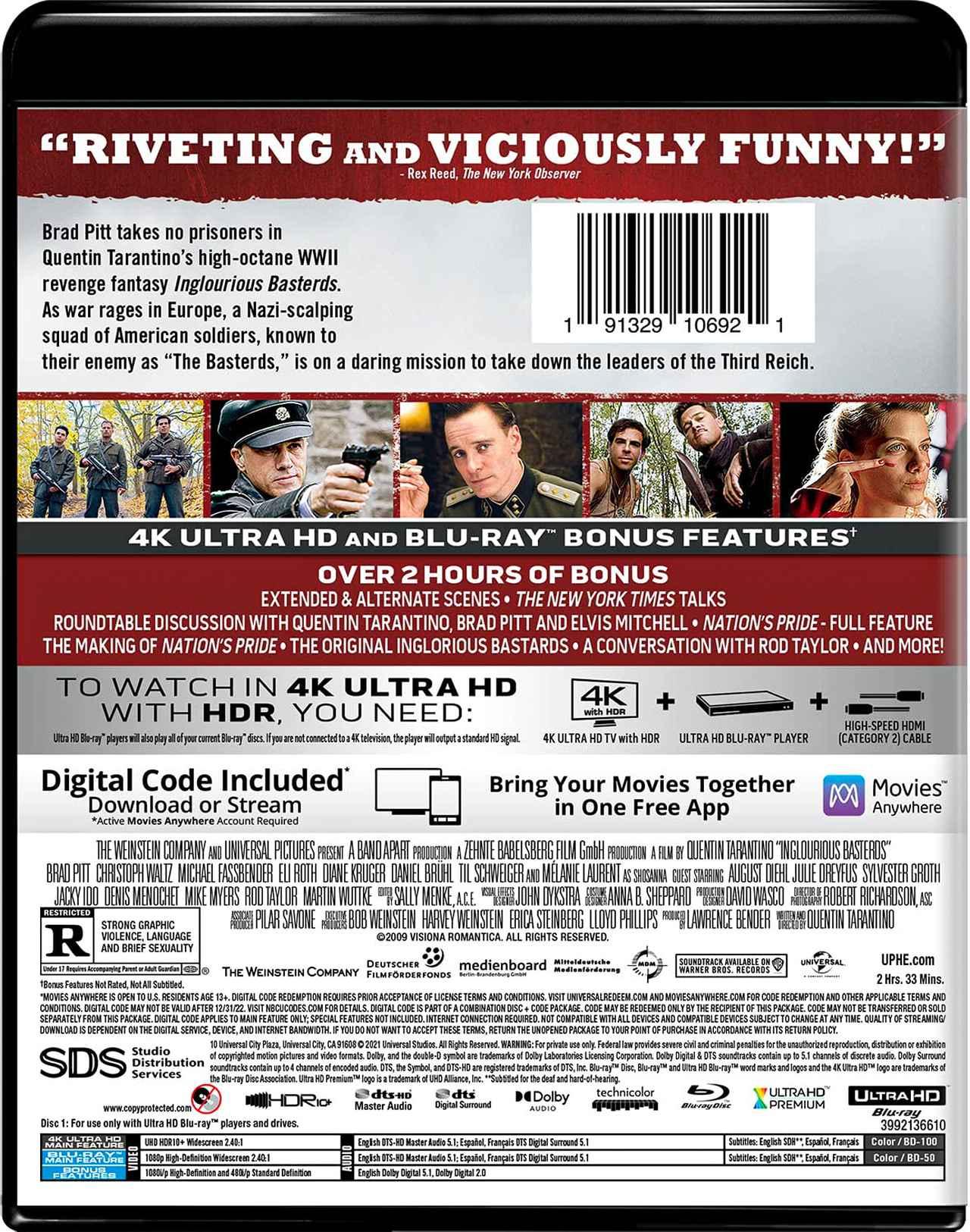 画像3: タランティーノ監督戦争活劇が4K化『イングロリアス・バスターズ』【海外盤Blu-ray発売情報】