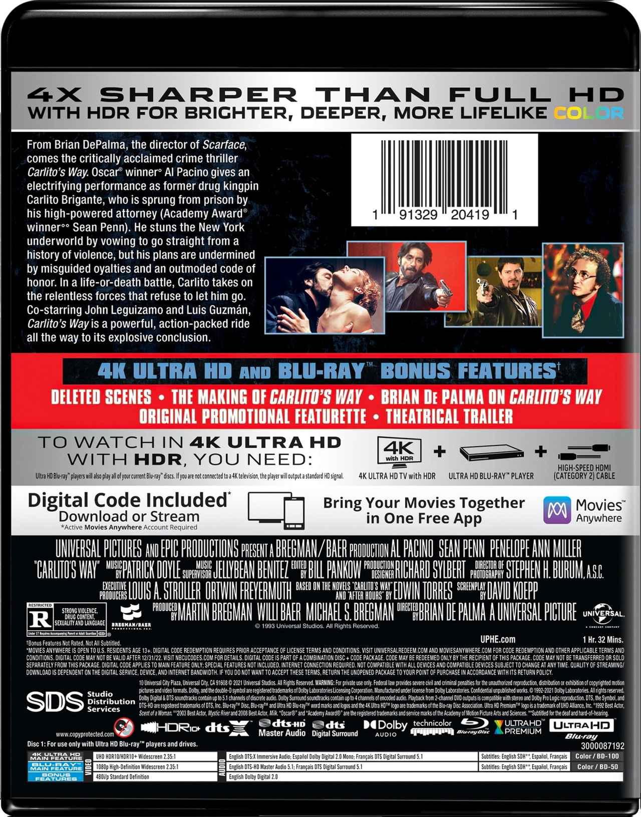 画像2: 4K デ・パルマ&パチーノ『カリートの道』【海外盤Blu-ray発売情報】