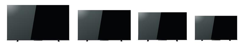画像: 左から65Z570K、55Z570K、50Z570K、43Z570K。