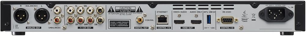 画像: HDMIが映像/音声兼用と音声専用の2系統、バランス/アンバランスのアナログ音声出力、7.1chアナログ音声出力など、ハイエンド機並の出力端子を備えている。レコーダーではアナログ音声出力端子やデジタル同軸音声出力端子が省かれてしまうことが多いので貴重な存在だ