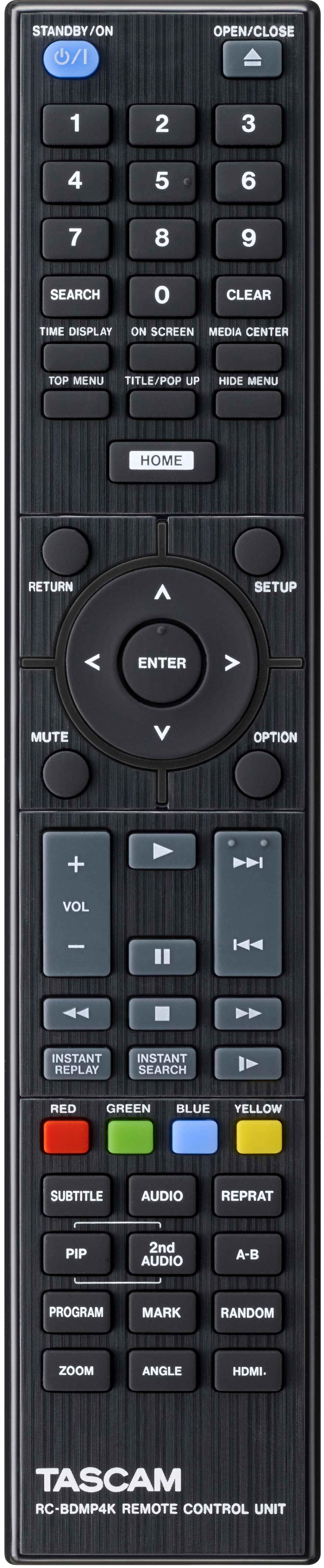画像: リモコンはスタンダードな配置だが、スキップが縦並びでひとつのボタンになっていることが特徴で、親指の位置をほとんど変えずに操作できる