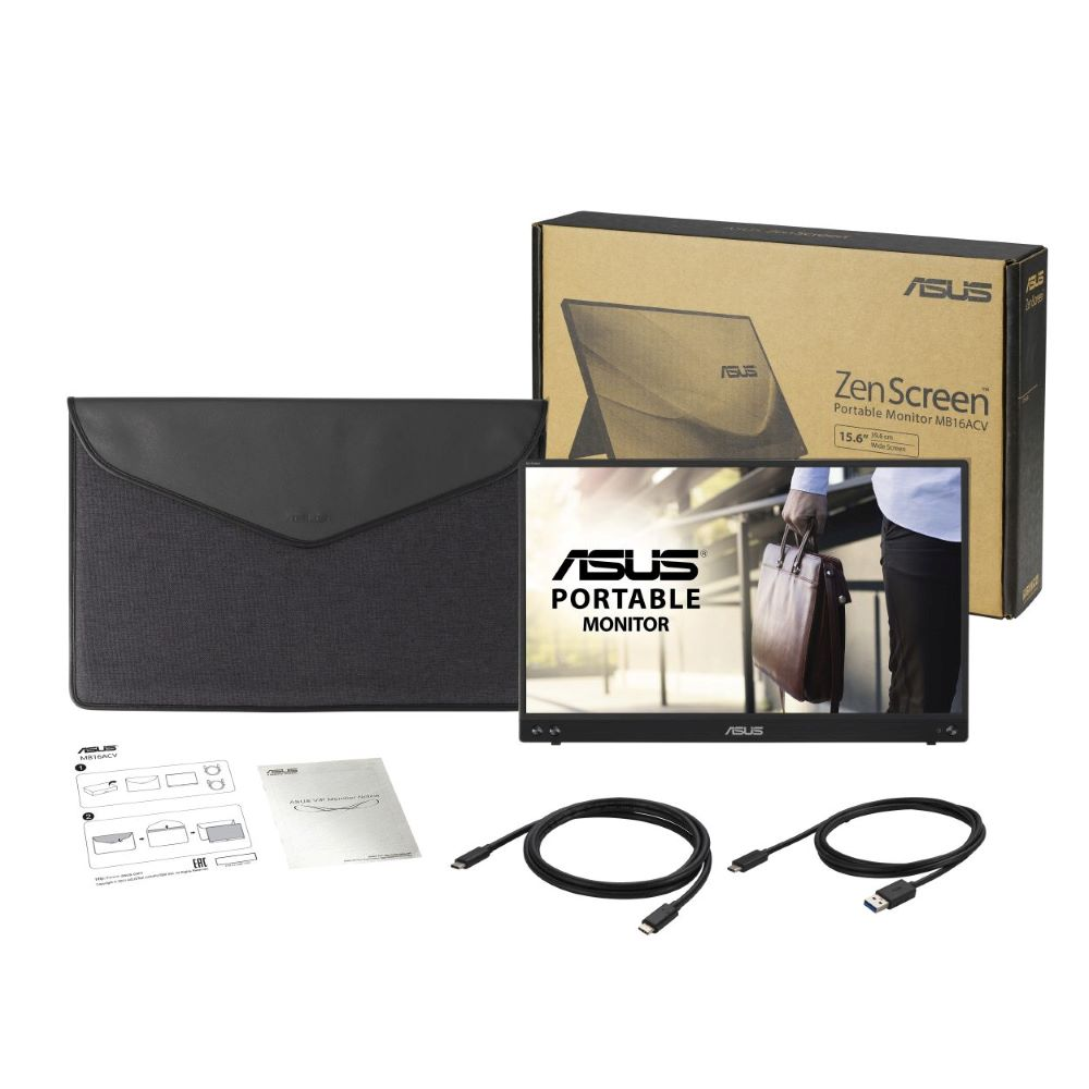 画像: ASUS JAPAN、外出先でも大画面で作業が行なえるポータブルディスプレイ「ZenScreen MB16ACV」を9月10日に発売