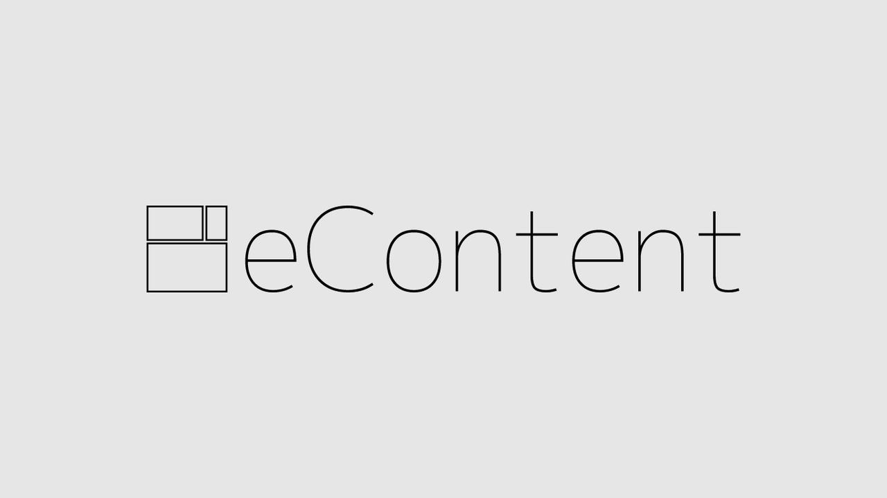 画像: eContent・イーコンテンツ