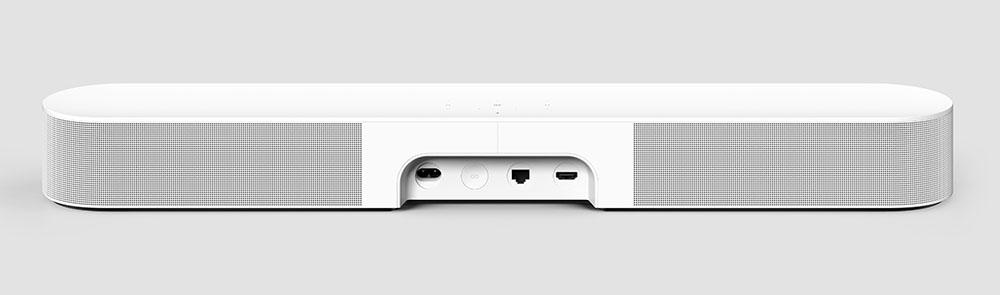 画像: 端子部は電源、LAN端子、HDMI入力というシンプルな構成。e-ARCへの対応でドルビーアトモスのビットストリーム信号を入力できるようになった