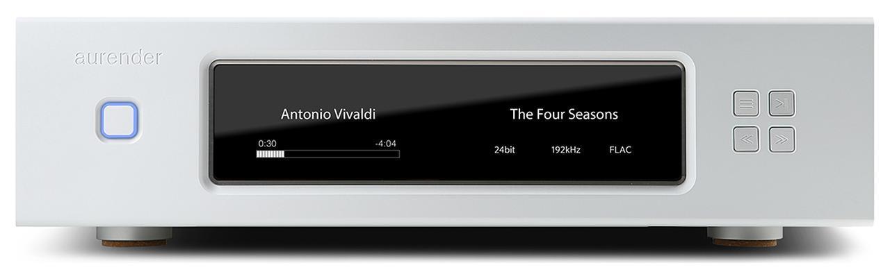 画像: Aurender W20 Special Edition ¥3,190,000(税込) ●SSD容量:4Tバイト ●接続端子:デジタル音声出力5系統(USBタイプB、同軸、BNC、光、AES/EBU×2)、デジタル音声入力1系 統(USBタイプA×2)、LAN1系統、クロック入力1系統 ●最大サンプリング周波数/量子化ビット数:〜768kHz/32ビット(PCM)、〜22.5MHz(DSD) ●寸法/質量:W430×H127×D379mm/21.1kg ●問合せ先:(株)エミライ