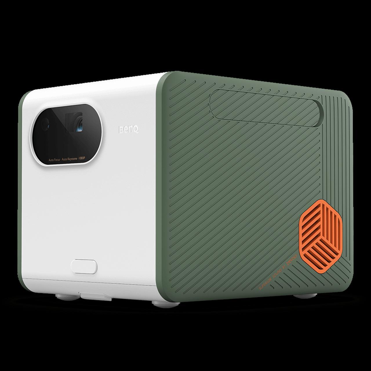 画像: 1080p アウトドア対応LEDモバイルプロジェクター、IPX2防滴、超低音 Bluetooth スピーカー付き、   GS50