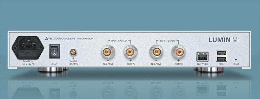 画像2: ブライトーンが、ルーミン「M1」を発売。USBとLAN入力を搭載したコンパクトなオールインワンシステムで、スピーカーをつなぐだけで高品質なハイレゾサウンドが楽しめる