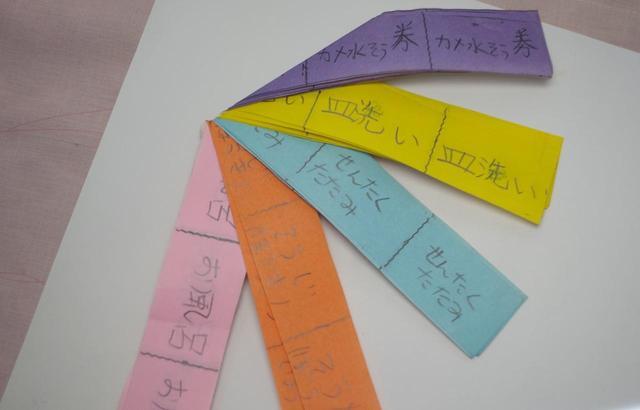画像: ゆきのさんが子どもの頃に贈った「お手伝い券」。