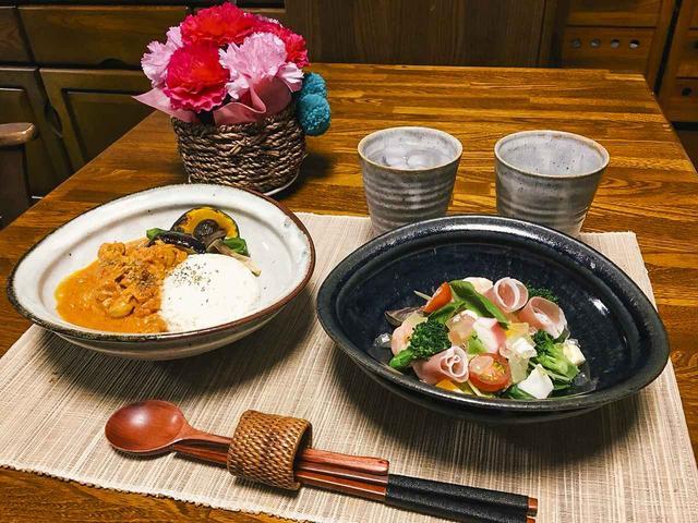 画像: ▲後日、編集部にはお皿にお料理を盛り付けた写真がお義母さんから送られてきました