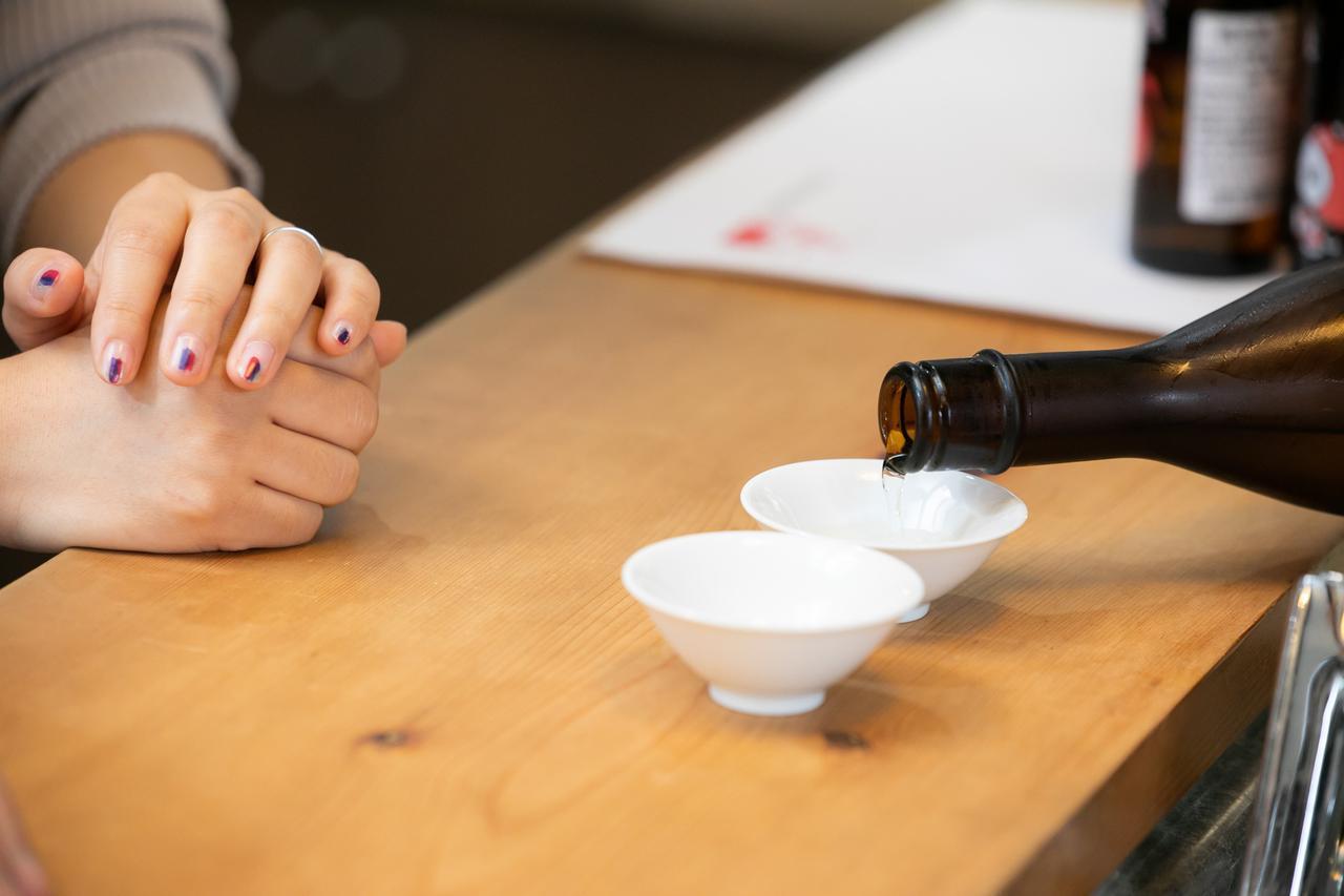 画像: まずは1番の「生酛 純米大吟醸 楽風舞」から!