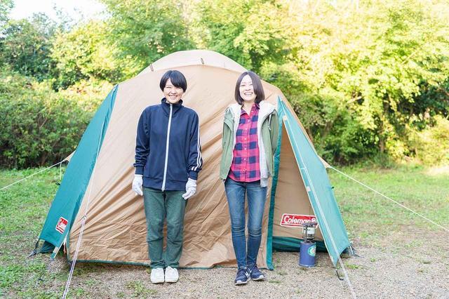 画像4: 難関…!? 二人三脚でテントを組み立てよう!