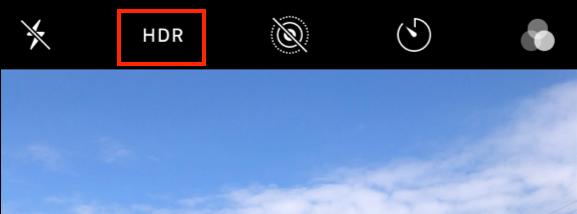 画像: 撮影画面の左上にある「HDR」をタッチしましょう。