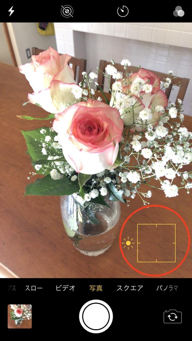 画像: 右下のテーブルあたりの暗い部分をタッチすると、全体的に明るくなりました。