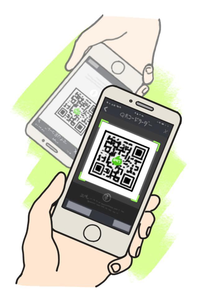 画像: QRコードをカメラ内におさまるように写し、画面が切り替わったら読み取り完了。