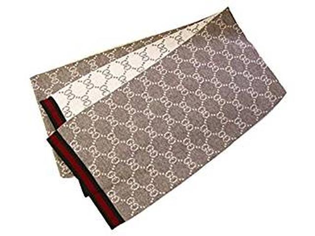画像: GUCCI リバーシブル マフラー 325806-3G206-2878 GUCCIリボン付き紙袋付き ベージュ | ストール・マフラー 通販