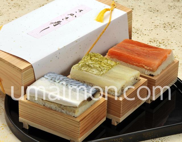 画像: 『さかさ寿司三種セット(サクラマス・平目・鯖)』(各1人前) ※冷蔵