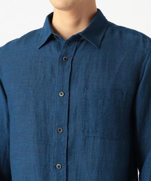 画像: リネンコットン 変形パナマメッシュシャツ (シャツ・ブラウス) COMME CA ISM / コムサイズム ファッション通販 タカシマヤファッションスクエア