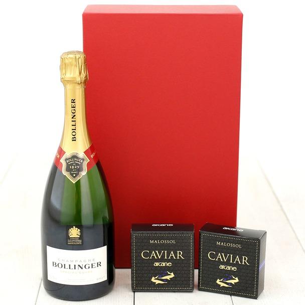 画像: シャンパン ボランジェ スペシャルキュヴェ750ml&フランス養殖キャビア18g×2個セット