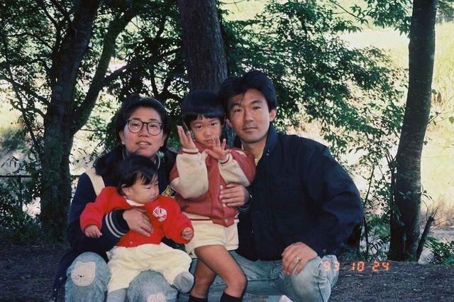 画像: 母、私、兄、父。横浜に住む小さな家族だ