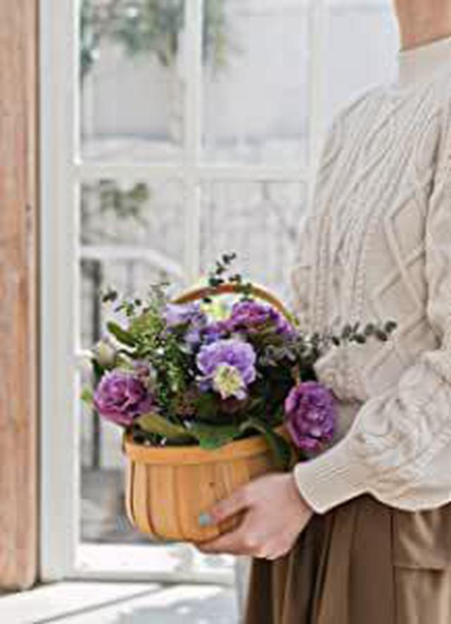 画像: HitoHana(ひとはな) トルコキキョウ アレンジメント 紫