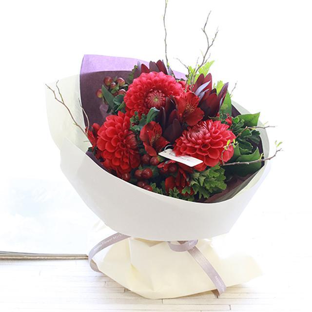 画像: 赤系の花束 一覧