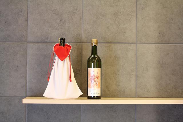 画像: ボトルふくさ (白×赤)|和奏オンラインショップ
