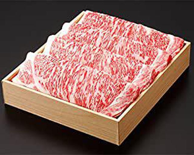 画像: 《三重県産》松阪牛 (リブロース) しゃぶしゃぶ 贈答用箱詰め (800g)