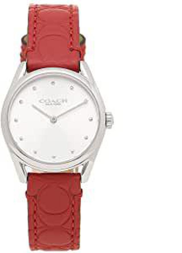 画像: COACHの赤いベルトの腕時計も素敵ですね!