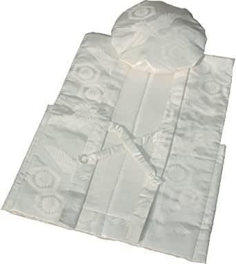 画像: ちゃんちゃんこ フリーサイズ 鶴亀甲柄 国産 (白色)