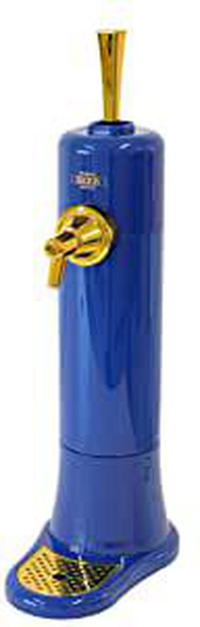 画像: 超音波式 スタンド型 ビールサーバー 本体ブルー&ゴールド きめ細かい泡 クリーミー