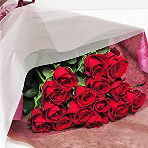 画像: 赤いバラの花束 最高級のトップローズを使用。 本数が選べます!