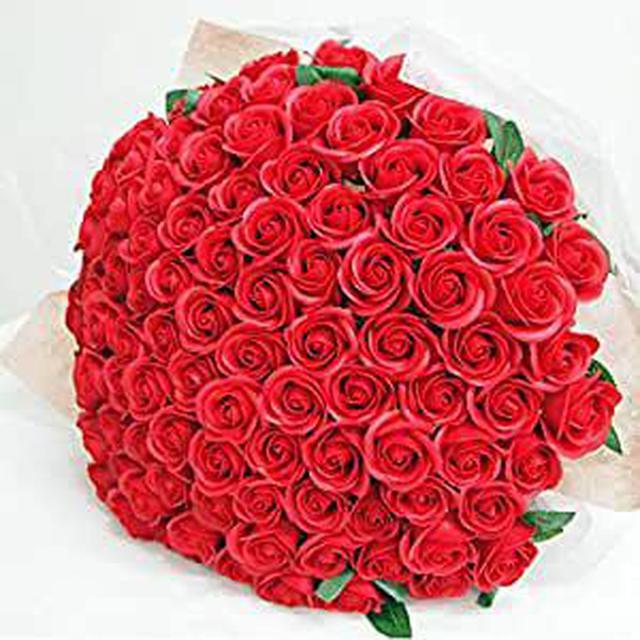 画像: お好きな本数 ソープフラワー花束 レッド 60本 ブーケ 赤いバラの花束 還暦 60歳
