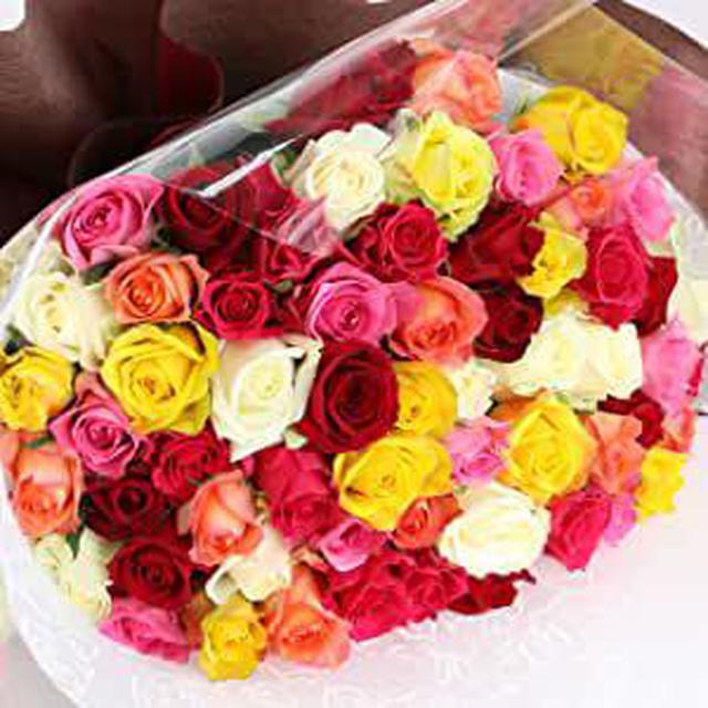 画像: 還暦祝い 薔薇の花束
